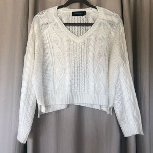 MINKPINK City of Dreams Cable Knit Sweater